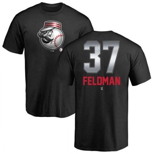 Scott Feldman Cincinnati Reds Men's Black Midnight Mascot T-Shirt -