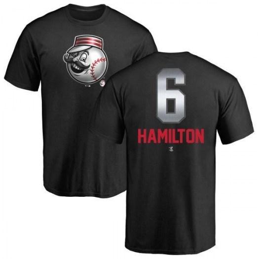 Billy Hamilton Cincinnati Reds Men's Black Midnight Mascot T-Shirt -