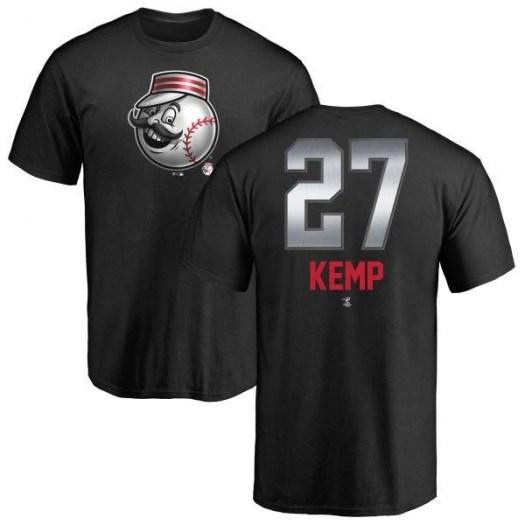 Matt Kemp Cincinnati Reds Men's Black Midnight Mascot T-Shirt -