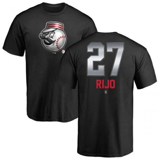 Jose Rijo Cincinnati Reds Men's Black Midnight Mascot T-Shirt -