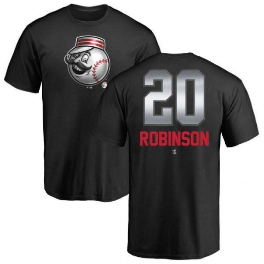 Frank Robinson Cincinnati Reds Men's Black Midnight Mascot T-Shirt -