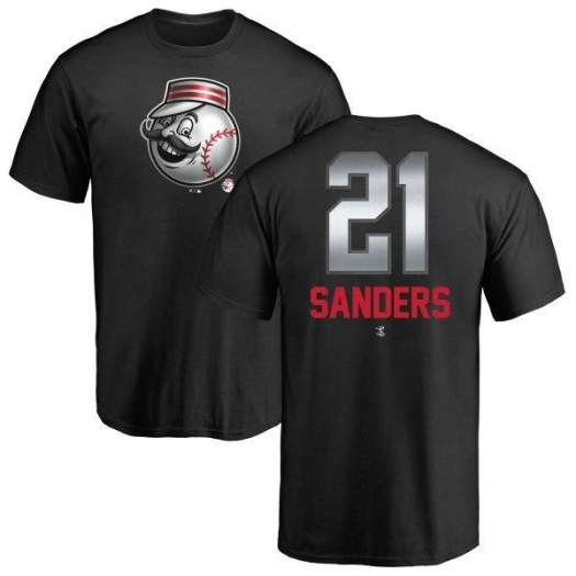Reggie Sanders Cincinnati Reds Men's Black Midnight Mascot T-Shirt -