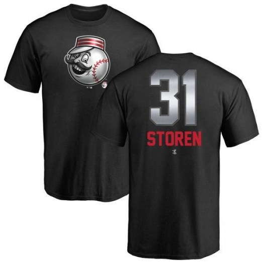 Drew Storen Cincinnati Reds Men's Black Midnight Mascot T-Shirt -