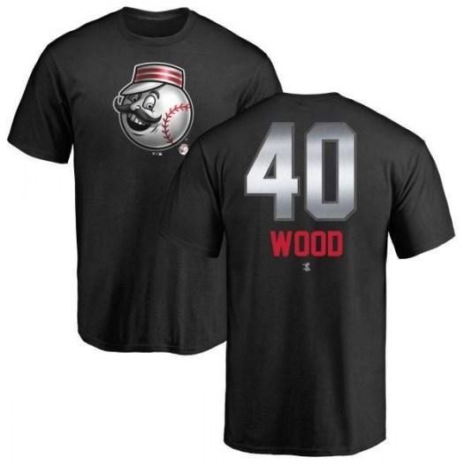 Alex Wood Cincinnati Reds Men's Black Midnight Mascot T-Shirt -