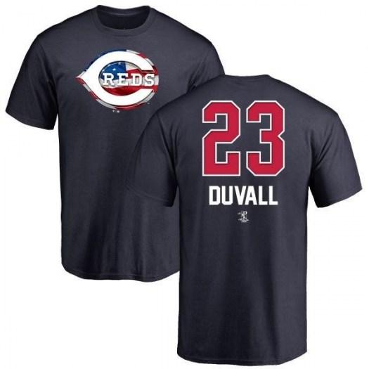 Adam Duvall Cincinnati Reds Men's Navy Name and Number Banner Wave T-Shirt -