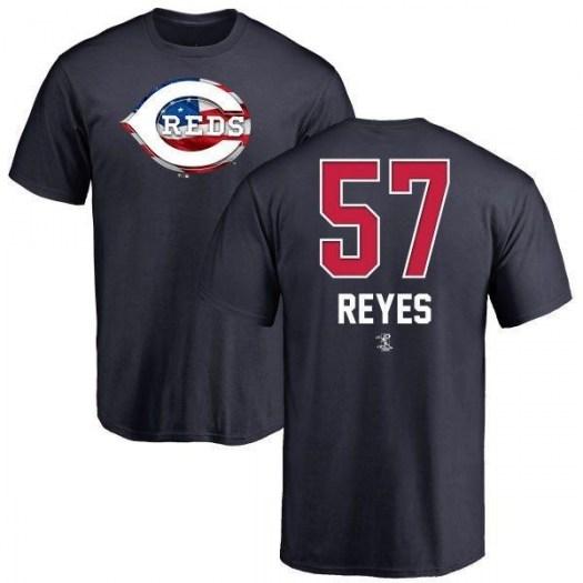 Jesus Reyes Cincinnati Reds Men's Navy Name and Number Banner Wave T-Shirt -