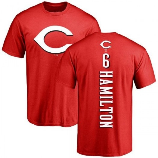 Billy Hamilton Cincinnati Reds Men's Red Backer T-Shirt -