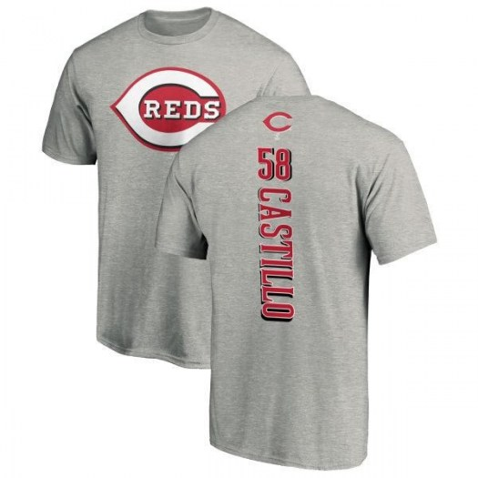 Luis Castillo Cincinnati Reds Men's Backer T-Shirt - Ash